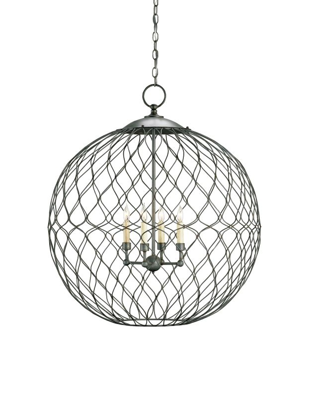 Currey and Company 9617 Simpatico Orb 4 Light Chandelier Large Hiroshi