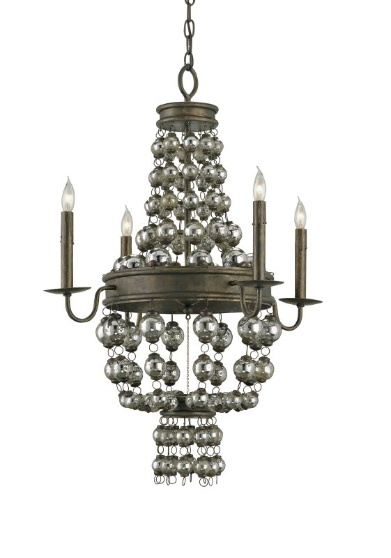 Currey and Company 9762 Spellbound 4 Light Chandelier Small Cupertino