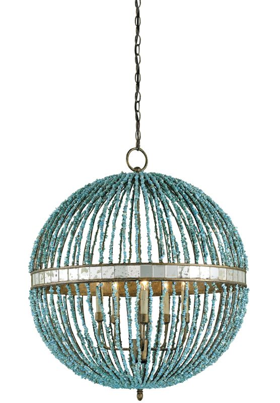 Currey and Company 9763 Alberto Orb 5 Light Chandelier Cupertino /