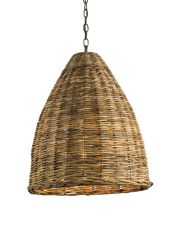 Woven Basket Lamp : Currey and company natural basket light pendant