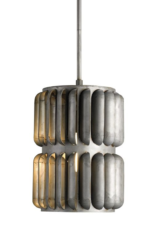 Currey and Company 9861 Hiroshi Gray Industrial Turbina Pendant