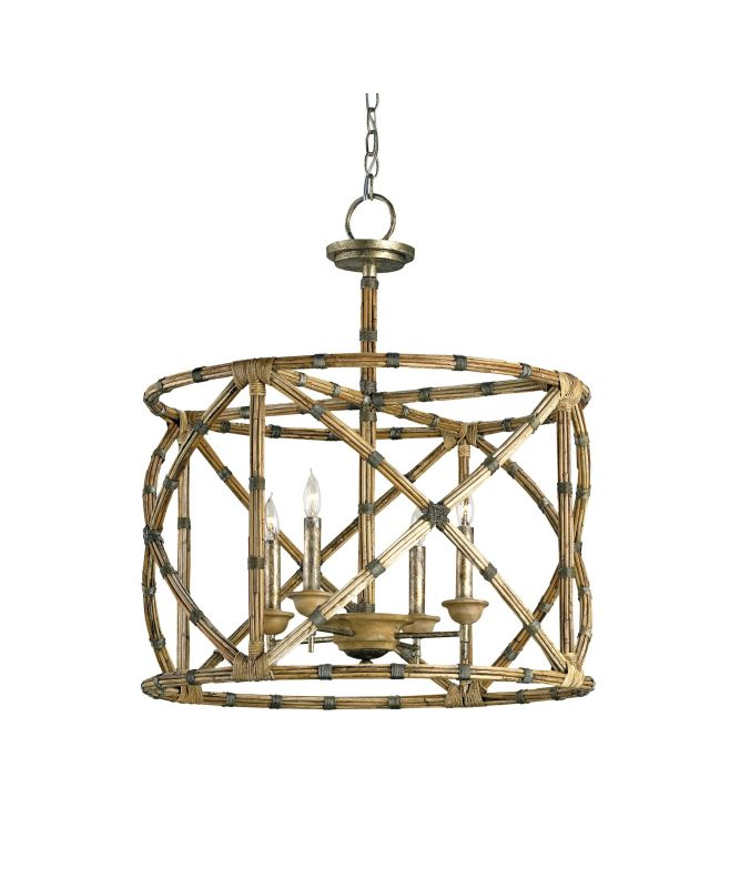 Currey and Company 9694 Palm Beach 4 Light Single Tier Chandelier