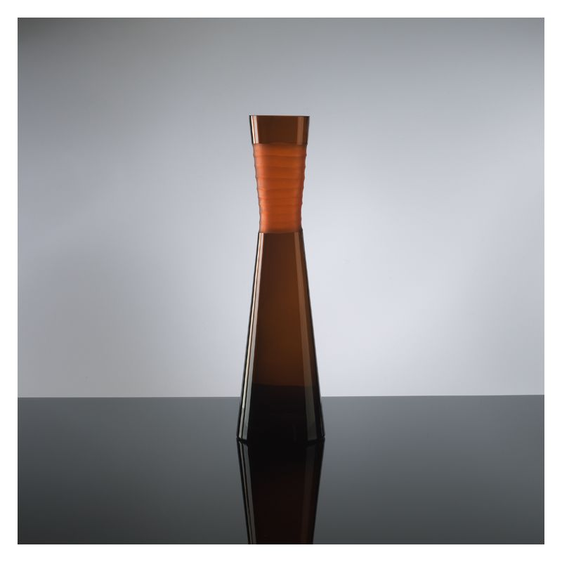 "Cyan Design 00953 18.5"" Large Orange Chiseled Neck Vase Orange Home"