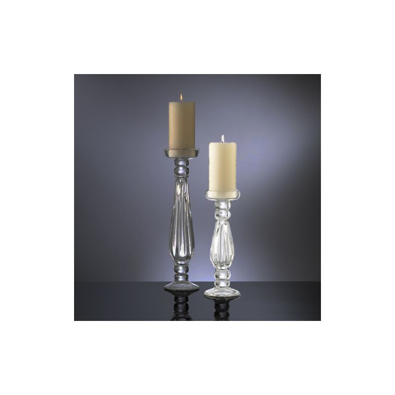 "Cyan Design 01263 11.5"" Small Clear Glass Candleholder Clear Home"