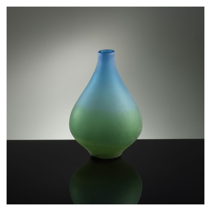 "Cyan Design 01667 13.75"" Medium Vizio Blue And Green Vase Blue and"