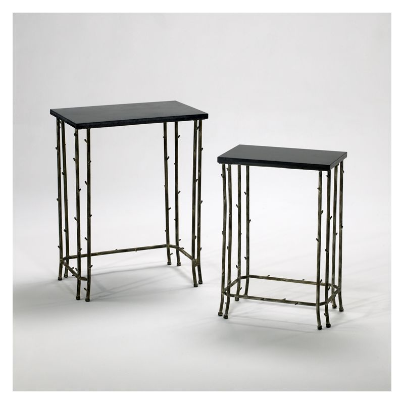 "Cyan Design 02045 24.25"" Bamboo Nesting Tables Distressed Bamboo"