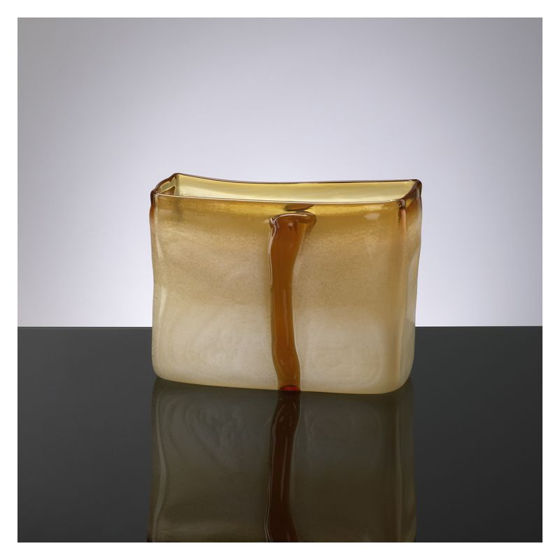 "Cyan Design 02162 6.25"" Small Cream And Cognac Vase Cream and Cognac"