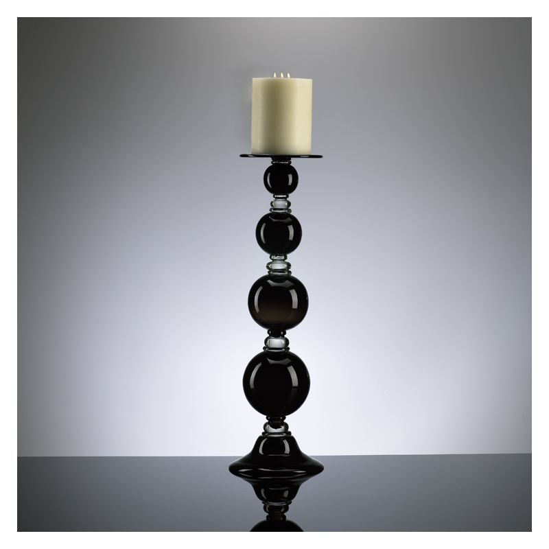 "Cyan Design 02179 25.25"" Large Black Globe Candleholder from the"