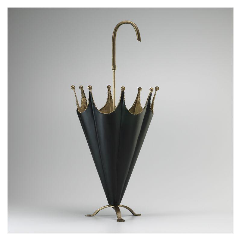 "Cyan Design 02249 30.75"" Umbrella Holder Gold and Black Home Decor"