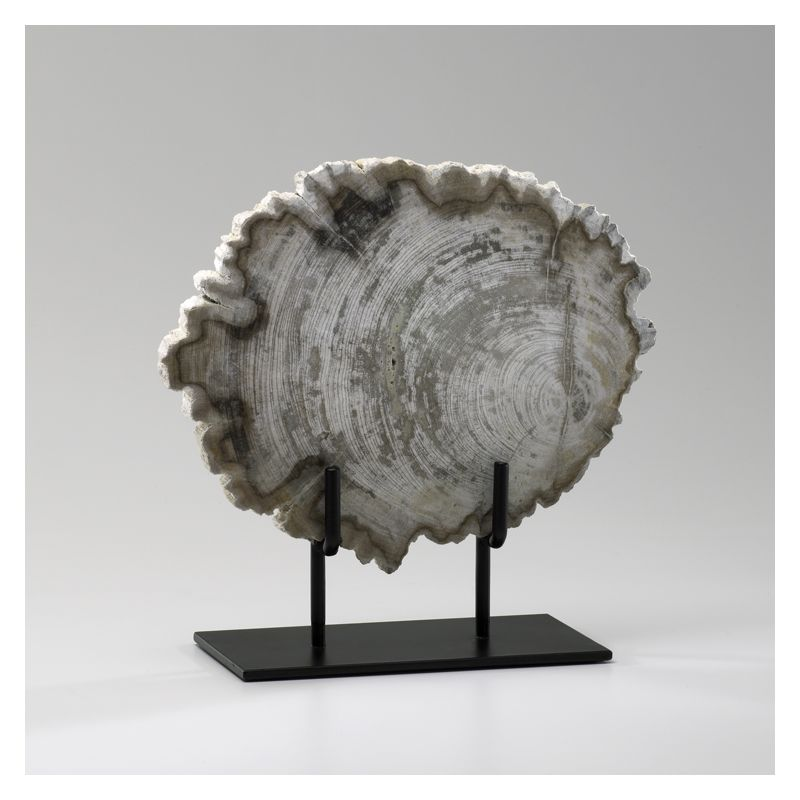 "Cyan Design 02598 11.5"" Small Petrified Wood On Stand Oak Home Decor"