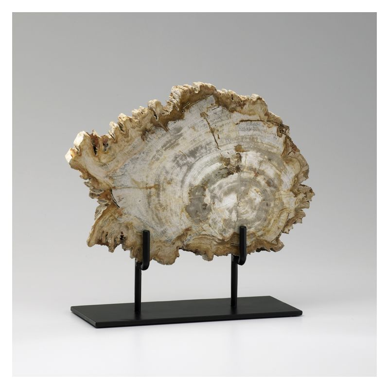 "Cyan Design 02599 12"" Medium Petrified Wood On Stand Oak Home Decor"
