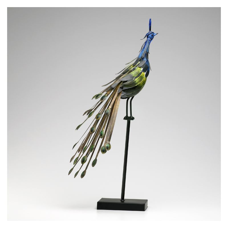"""Cyan Design 02832 26"""" Peacock On Stand #1 Multi Colored Home Decor"""