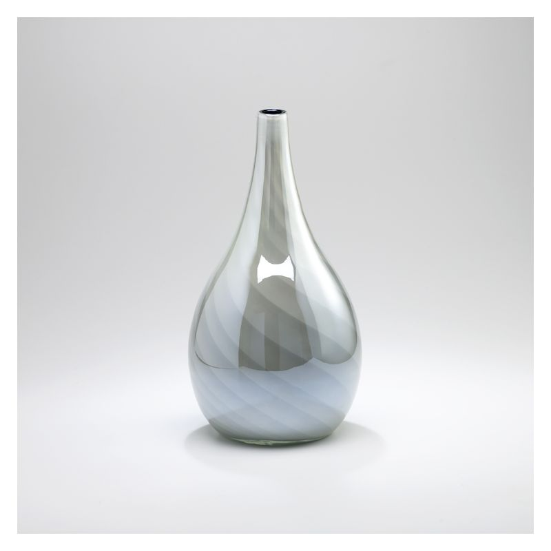 "Cyan Design 02933 19.5"" Small Petra Vase White and Smoked Home Decor"