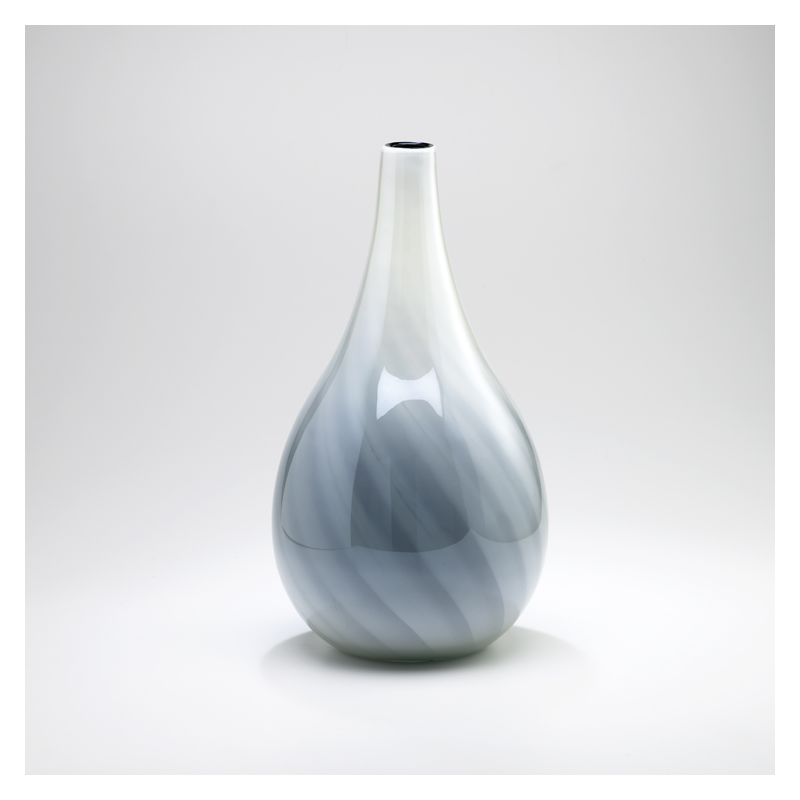 "Cyan Design 02934 23.5"" Large Petra Vase White and Smoked Home Decor"