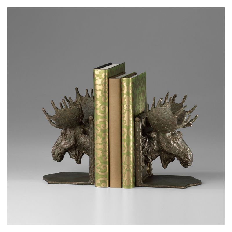 "Cyan Design 03072 7.45"" Moosehead Bookends Home Decor Bookends"