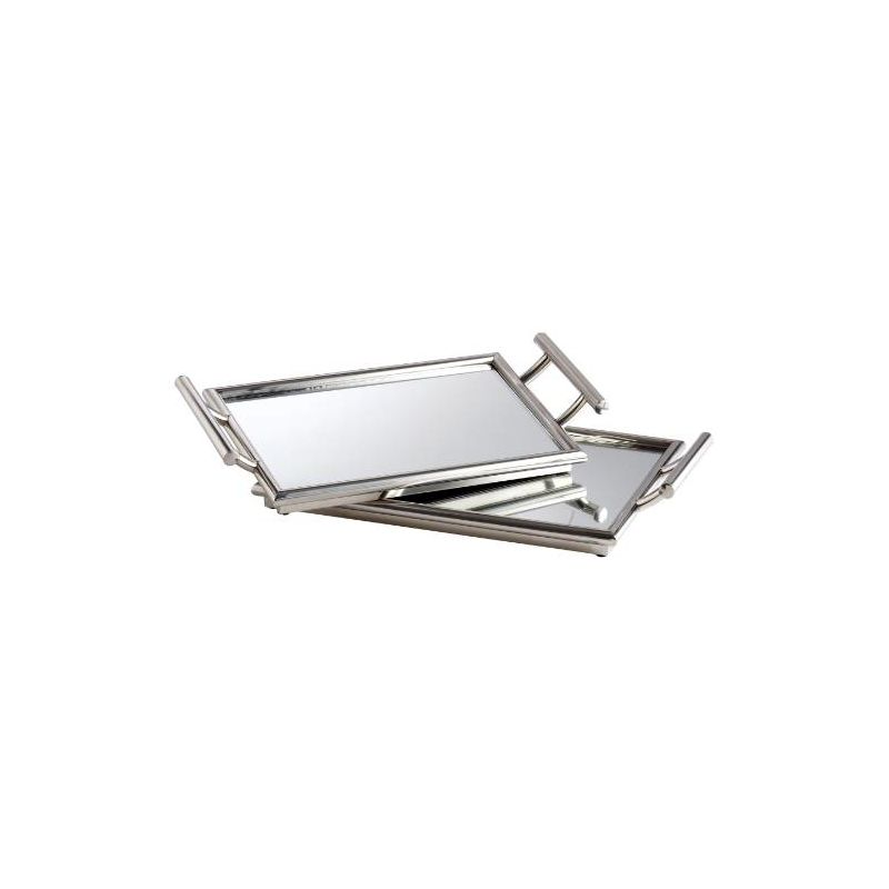 Cyan Design 05820 21.75&quote x 12.5&quote Mirror Nesting Tray Stainless Steel