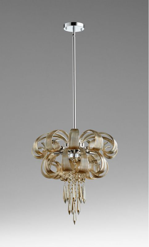 Cyan Design 05945 7 Light Small Cindy Lou Who Chandelier Cognac Indoor