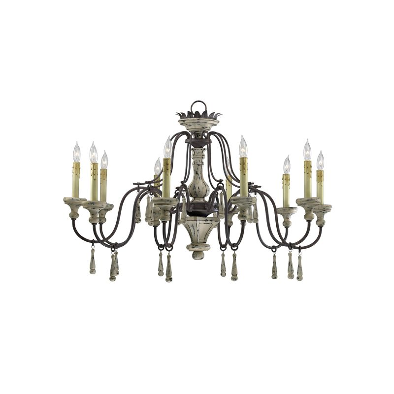 "Cyan Design 6513-10 24.25"" Ten Lamp Chandelier from the Provence"