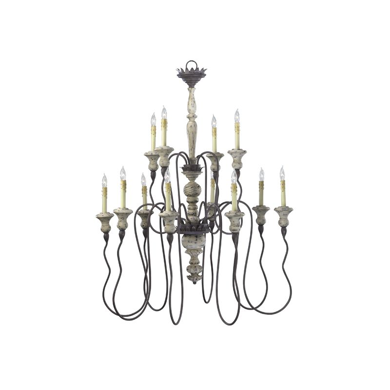 "Cyan Design 6513-12 42.25"" Twelve Lamp Chandelier from the Provence"