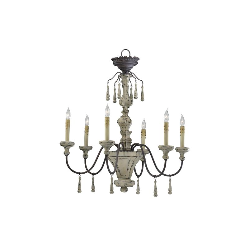 "Cyan Design 6513-6 31.75"" Six Lamp Chandelier from the Provence"