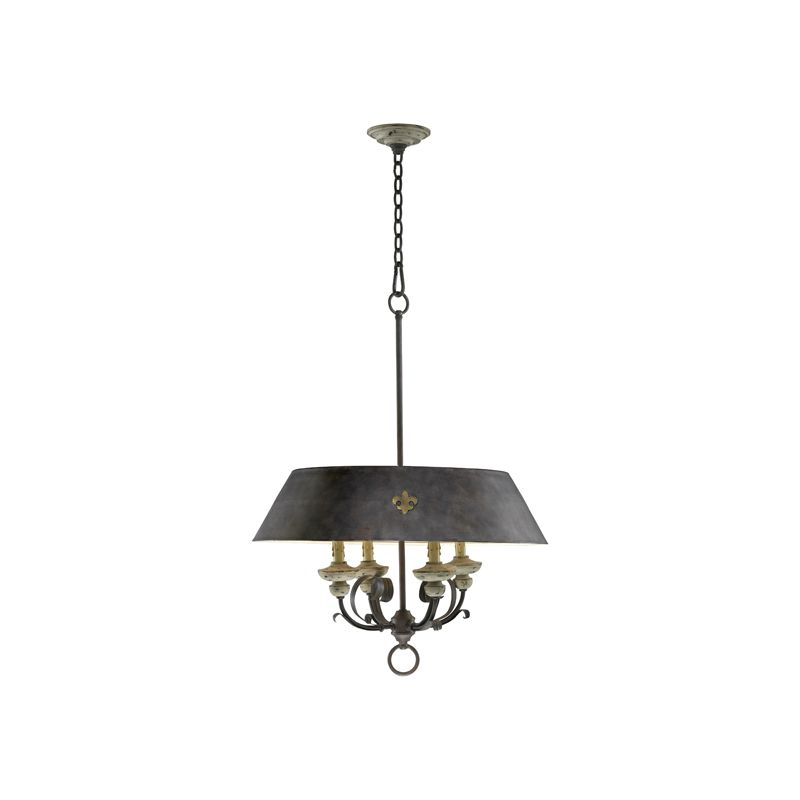 "Cyan Design 6514-4 33.25"" Four Lamp Pendant from the Provence"