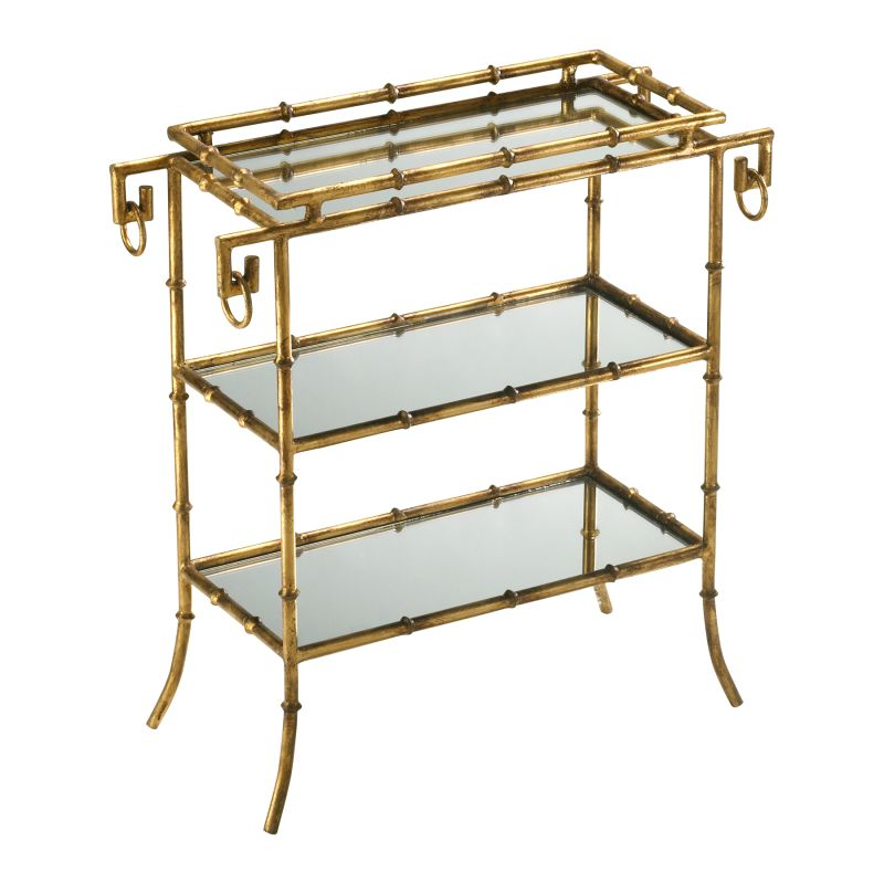 Cyan Design 04208 Bamboo Tray Table Gold Furniture End Tables
