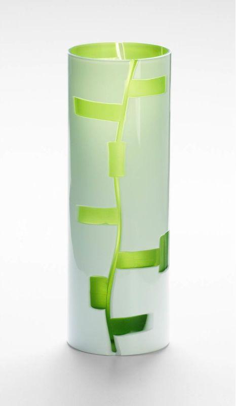 "Cyan Design 04242 12"" Small Danish Vase White / Green Home Decor Vases"