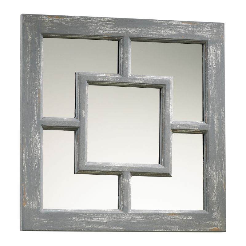 Cyan Design 04282 Ashbury Rectangular Mirror Distressed Gray Home
