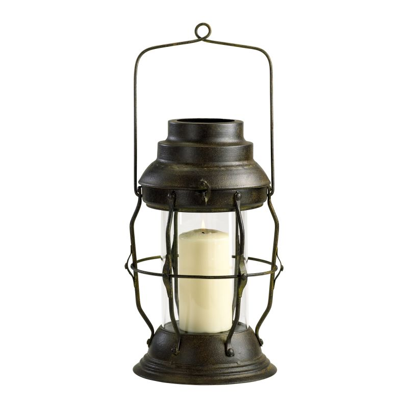 Cyan Design 04290 Willow Iron Lantern Rustic Home Decor Candle Holders