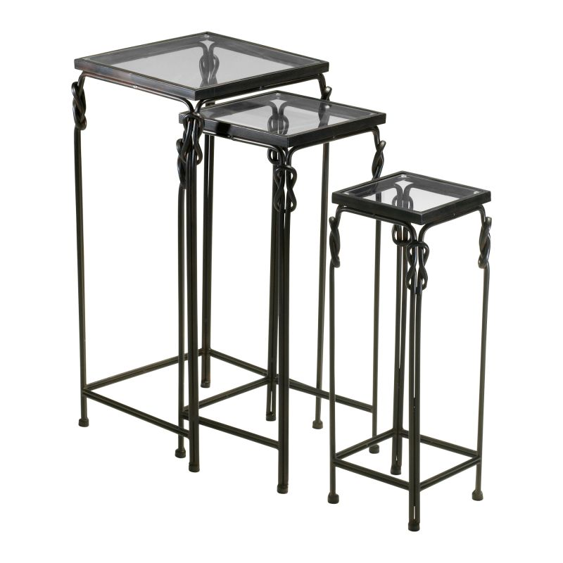 Cyan Design 04311 Dupont Nesting Tables Rustic Iron Furniture Nesting