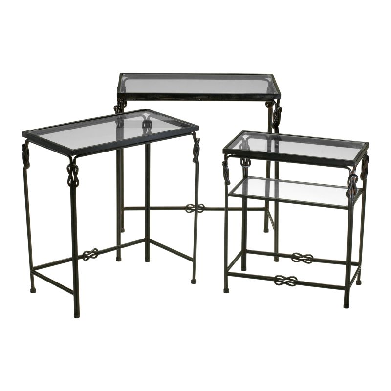 Cyan Design 04312 Dupont Occasional Nesting Tables Rustic Iron