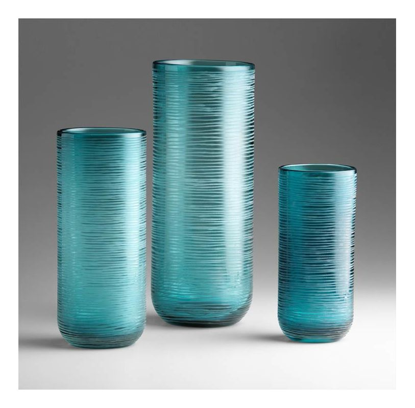 "Cyan Design 04358 11.5"" Medium Libra Vase Aqua Home Decor Vases"