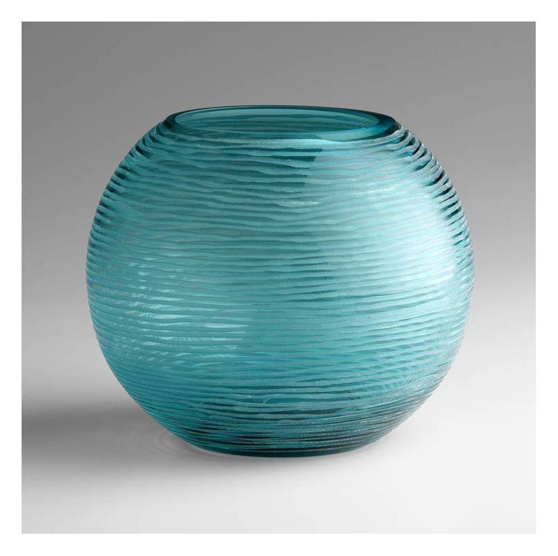 """Cyan Design 04361 6.75"""" Large Round Libra Vase Aqua Home Decor Vases"""