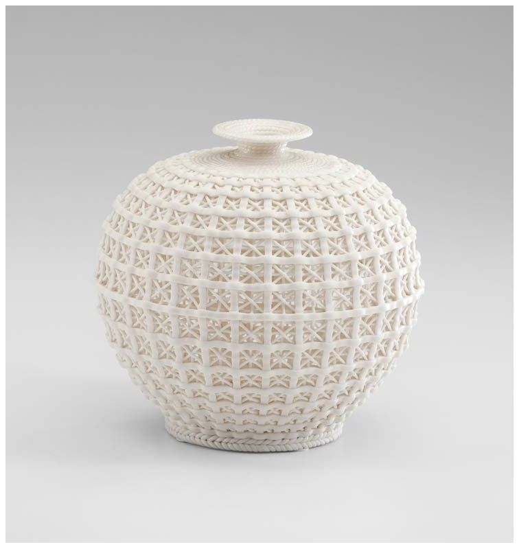 "Cyan Design 04440 8.25"" Small Diana Vase Matte White Home Decor Vases"