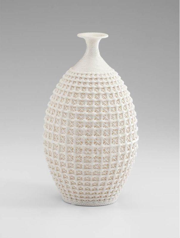 "Cyan Design 04441 14"" Large Diana Vase Matte White Home Decor Vases"