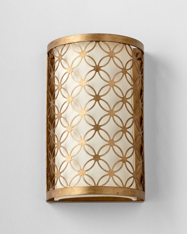 Cyan Design 04600 Calypso Wall Sconce Gold Leaf Indoor Lighting Wall