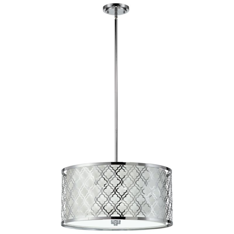 Cyan Design 04656 Dauphine 5 Light Full Size Pendant Chrome Indoor
