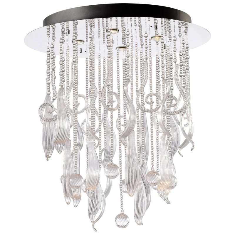 Cyan Design 04667 Mirabelle 4 Light Full Size Pendant Chrome and Clear