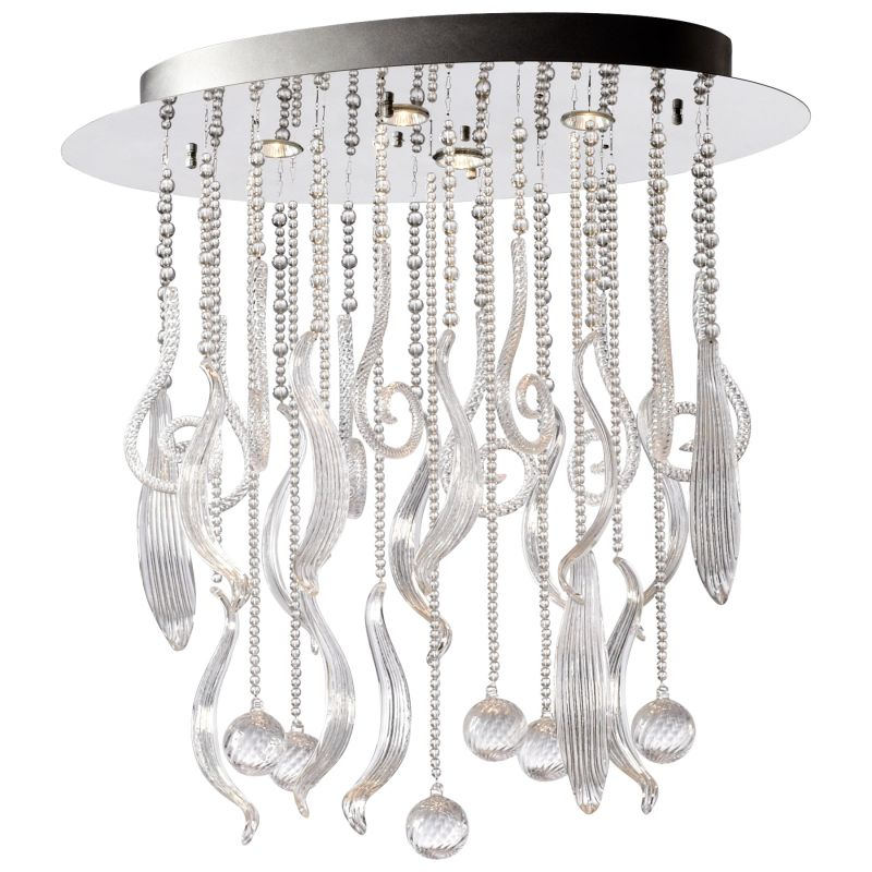 Cyan Design 04668 Mirabelle 4 Light Full Size Pendant Chrome and Clear