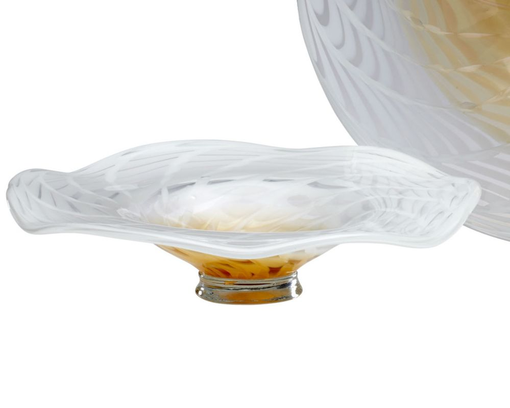 Cyan Design 04770 Small Palomar Plate Amber and Clear Home Decor