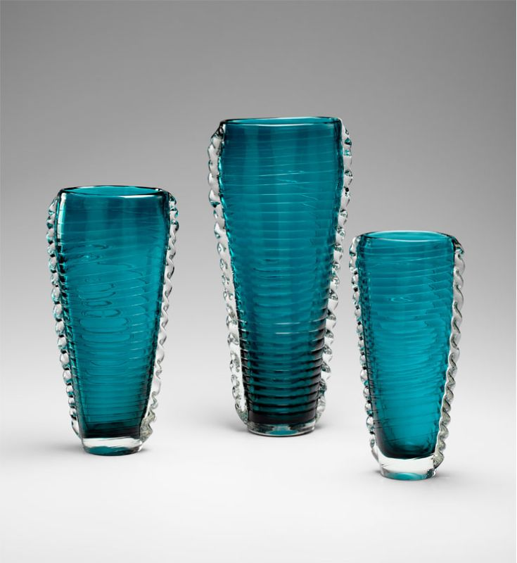 "Cyan Design 04781 11"" Small Dollie Vase Cyan Blue Home Decor Vases"