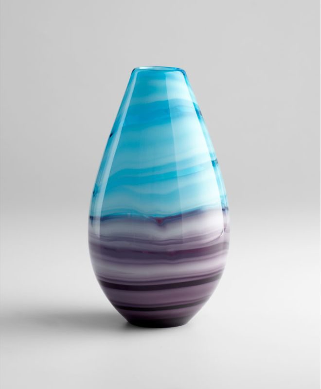 "Cyan Design 04808 13.25"" Tall Callie Vase Turquoise / Purple Home"
