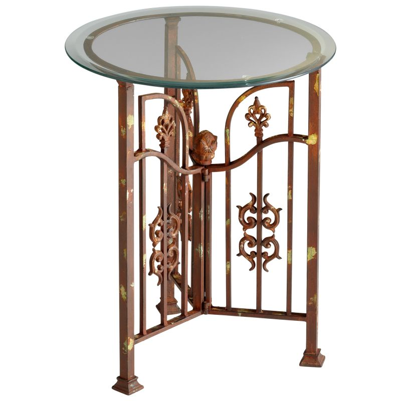 Cyan Design 04897 Hayden Side Table Rust Furniture End Tables