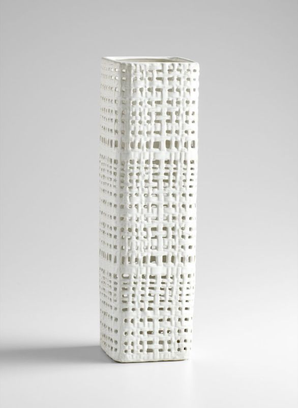 "Cyan Design 04999 21.5"" Large Cordova Vase White / Cream Glaze Home"
