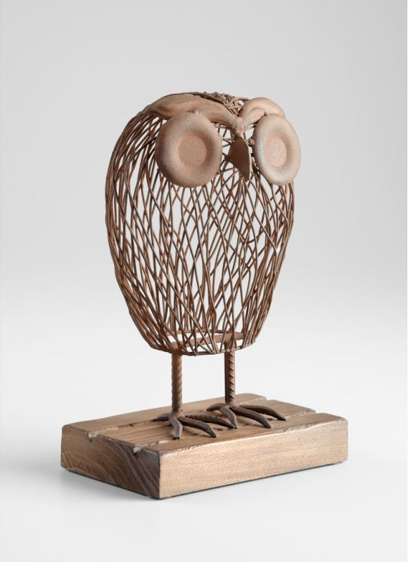 "Cyan Design 05063 13"" Wisely Owl Sculpture Rustic Home Decor Statues &"