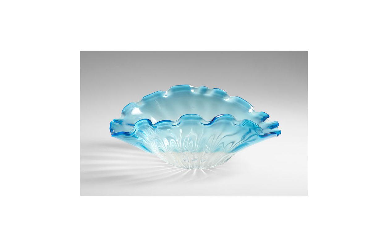 """Cyan Design 05170 9.8"""" Small Weymouth Bowl Cobalt Blue Home Decor"""