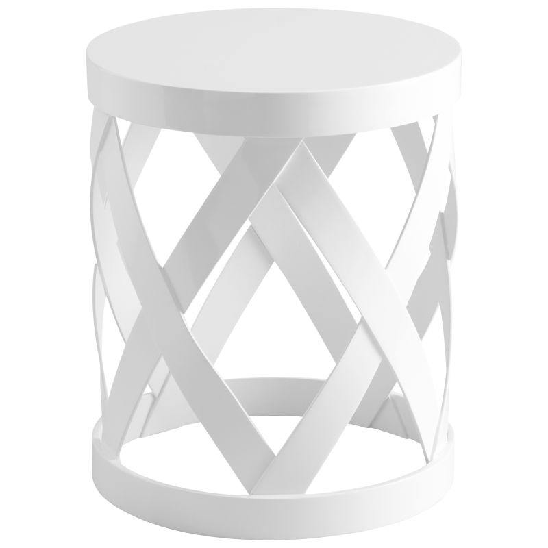 Cyan Design 05218 Warwick Accent Table White Furniture End Tables