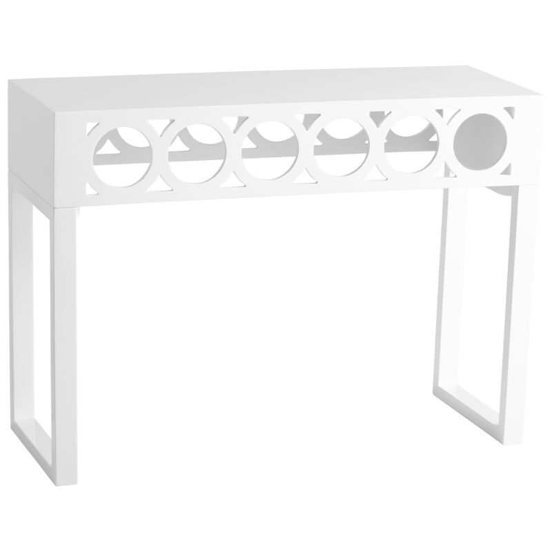 Cyan Design 05226 Balbo Console Table White Furniture Console Tables