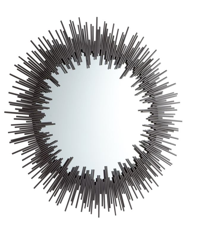 Cyan Design 05239 Aurora Rounded Mirror Graphite Home Decor Lighting