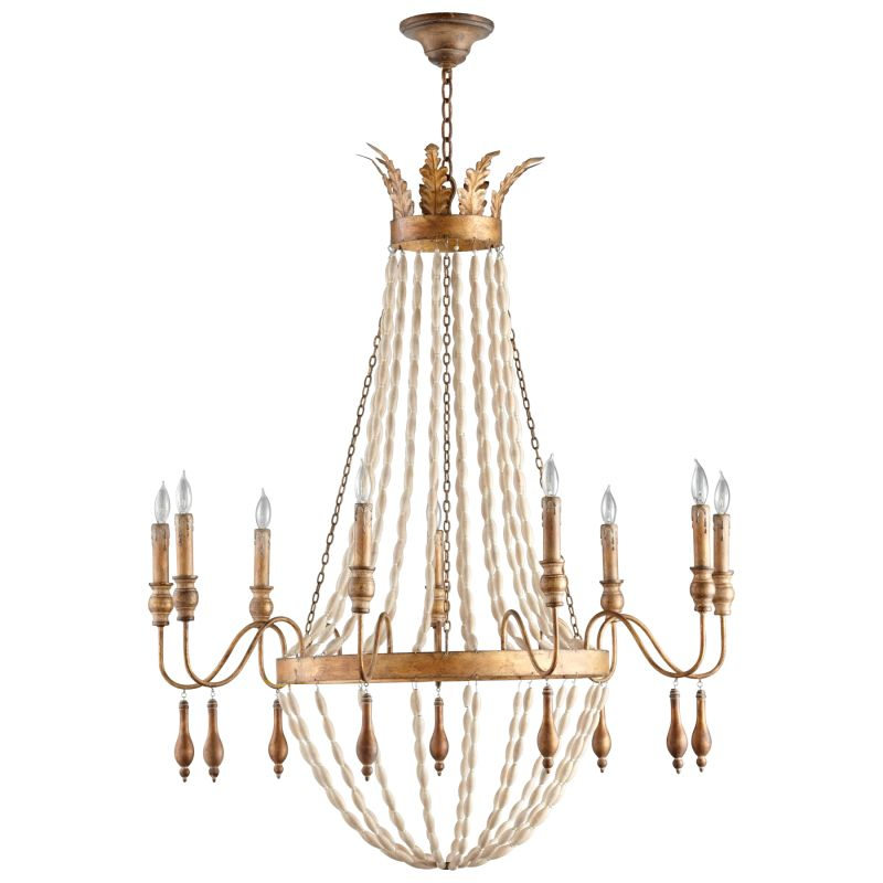 Cyan Design 05282 Alexandra 9 Light 1 Tier Chandelier Gold Indoor